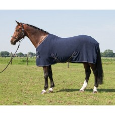 "Harry's Horse Fleecedeken ""Deluxe"" - Navy"