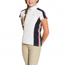 Ariat Kinder Wedstrijdshirt Aptos Colorblock - White